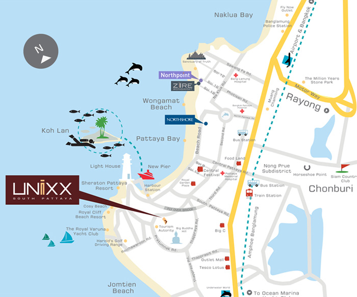 Unixx South Pattaya location
